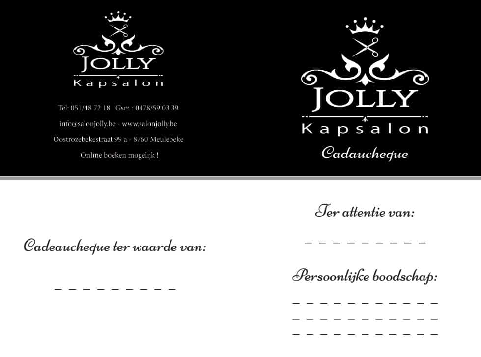 Cadeaucheque Salon Jolly