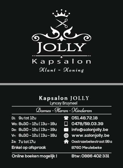 Visitekaartje Salon Jolly